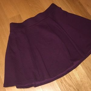 Purple Quilted Short Circle Skirt